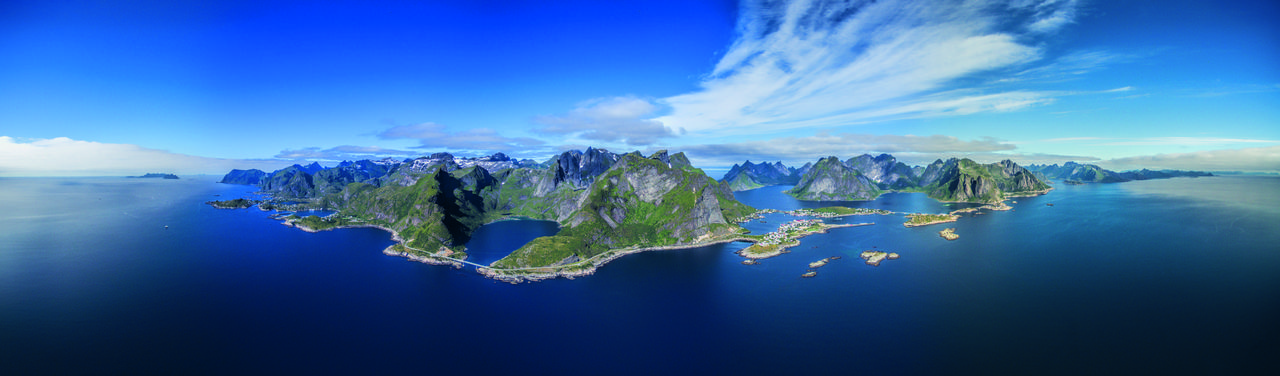 Panoramabild Norwegen
